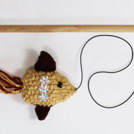 piękna kreatywna zabawka dla kota wędkarybka różdżka