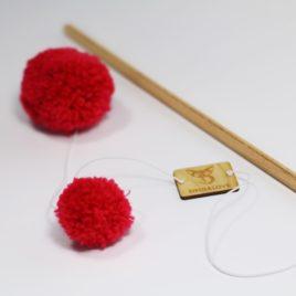 unikalne zabawki dla kotów wełna drewno