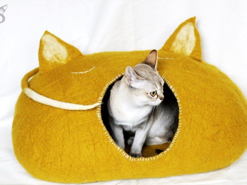 wełniany domek budkka dla kota SingaLove
