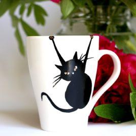 prezent dla kociary kubek z kotem SingaLove