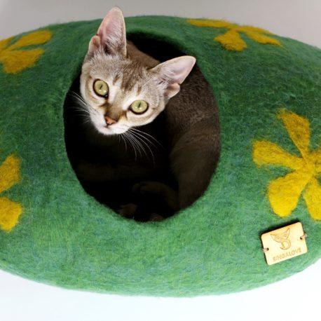 koci kokon 100% wełny legowisko dla kota