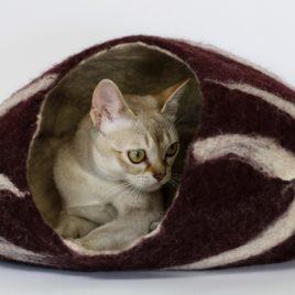 wełniany kokon dla kota SingaLove eco design